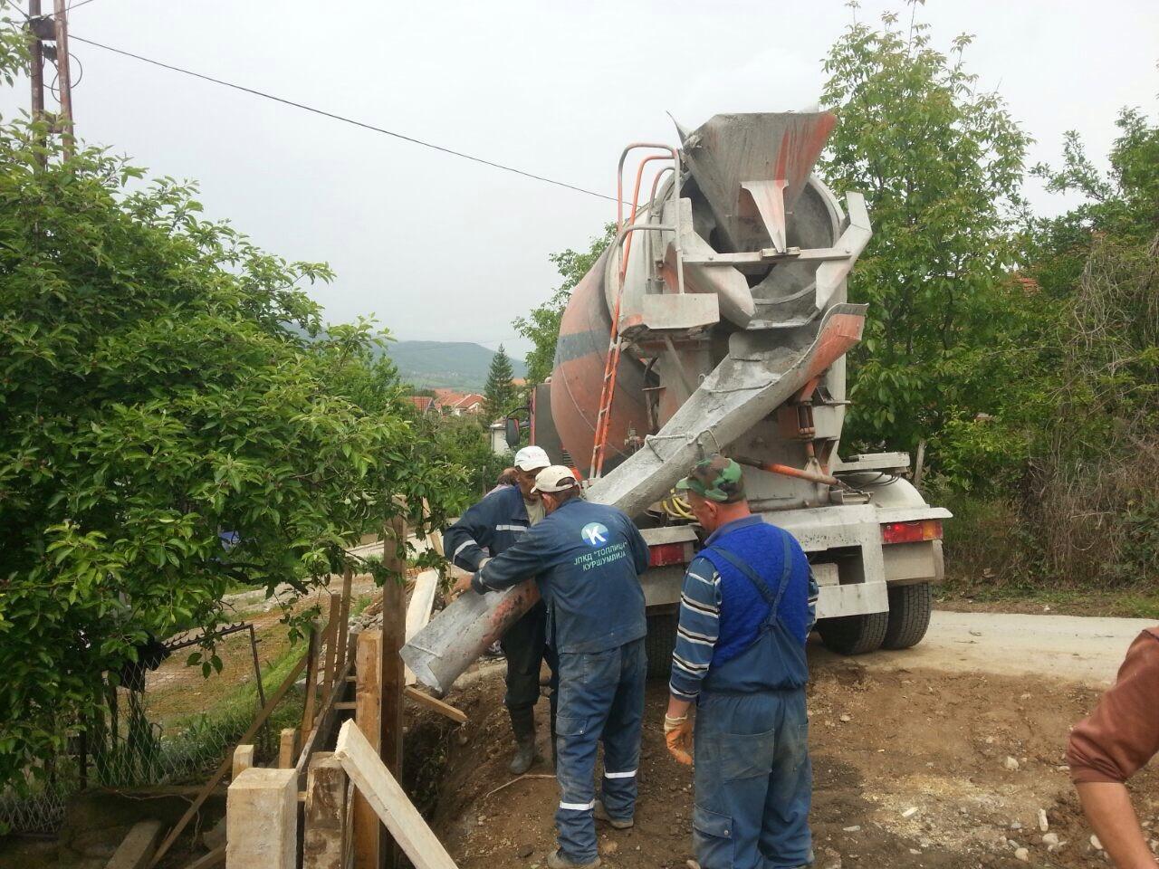 """Radnici JPKD """"Toplica"""" izvode radove u ulici Bože Jordanovića-2"""